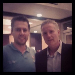 Coach Brett Brown and me