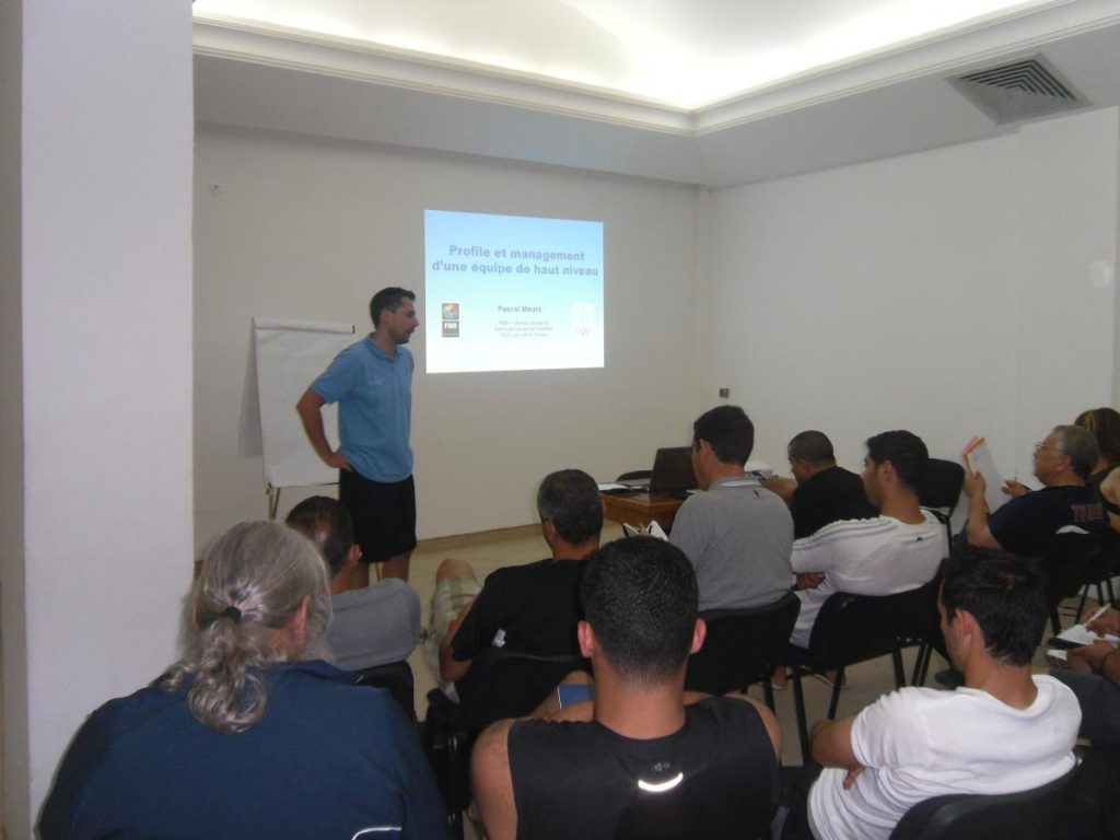 "Theoretical session ""Profile and management of a high level team"""